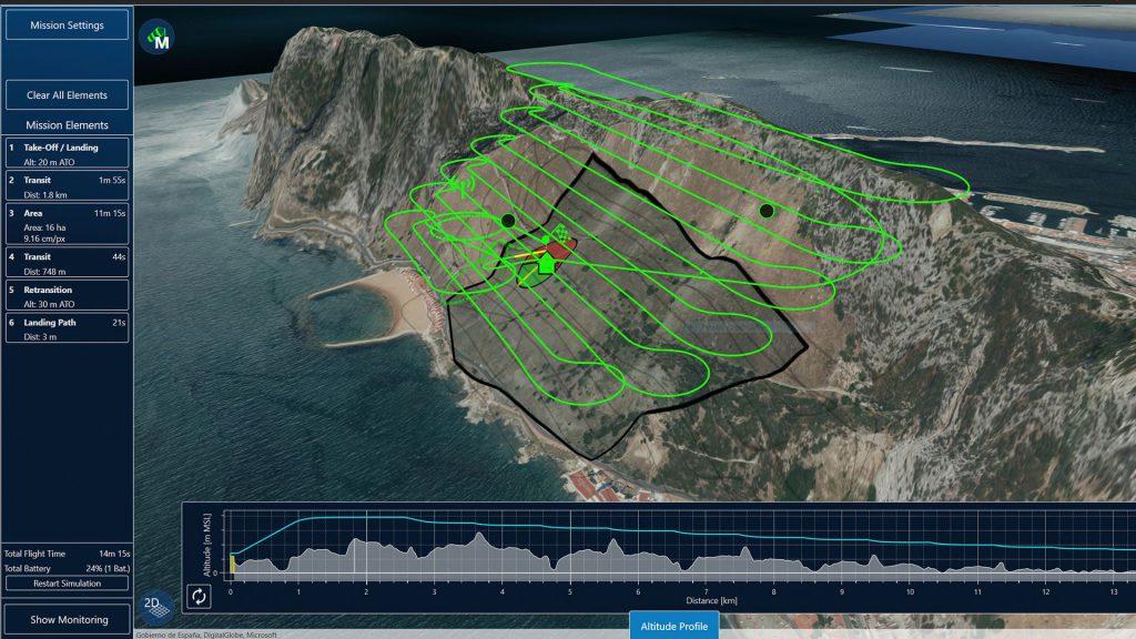 Qbase software pianificazione missione di volo