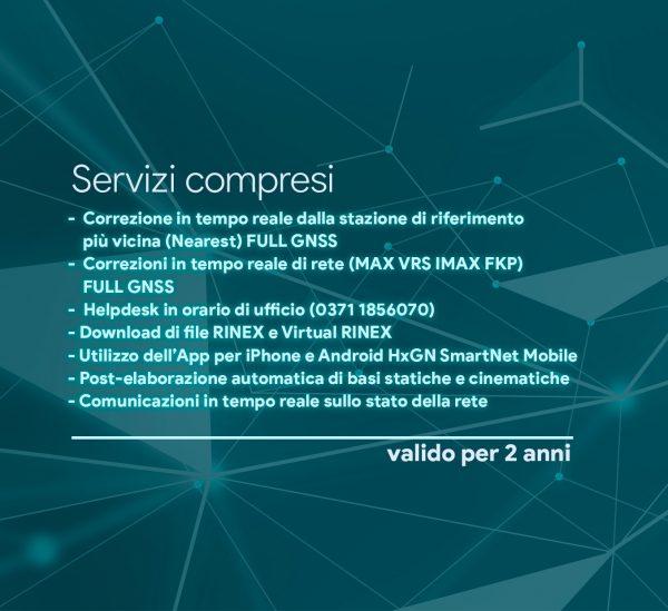 servizi compresi NRTK UNLIMITED FULL GNSS 2 ANNI